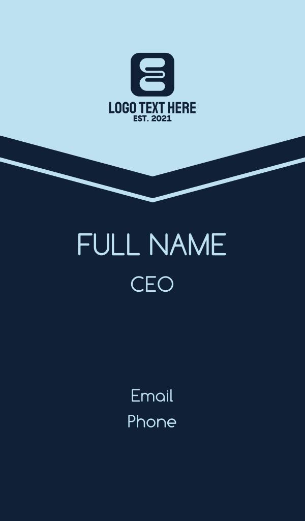 Letter E App Business Card
