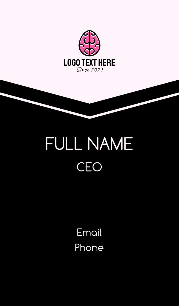 Smart Brain Egg Business Card
