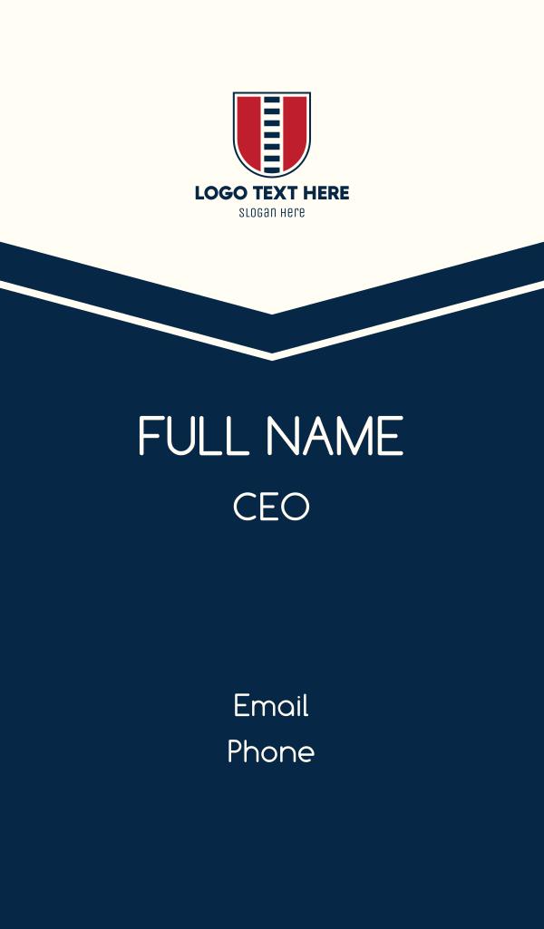 Railway Shield Business Card