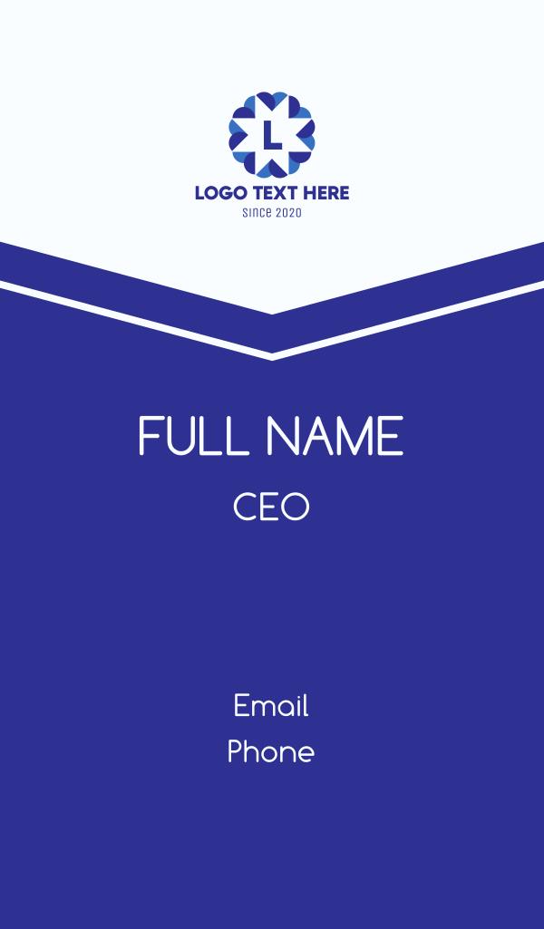 Blue Star Lettermark Business Card