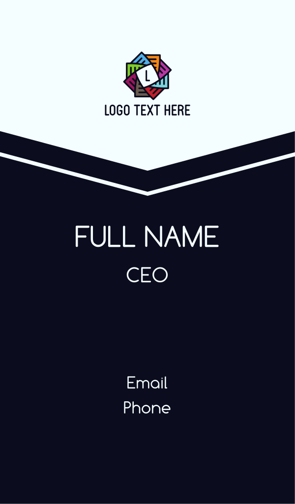 Colorful Pages Letter Business Card