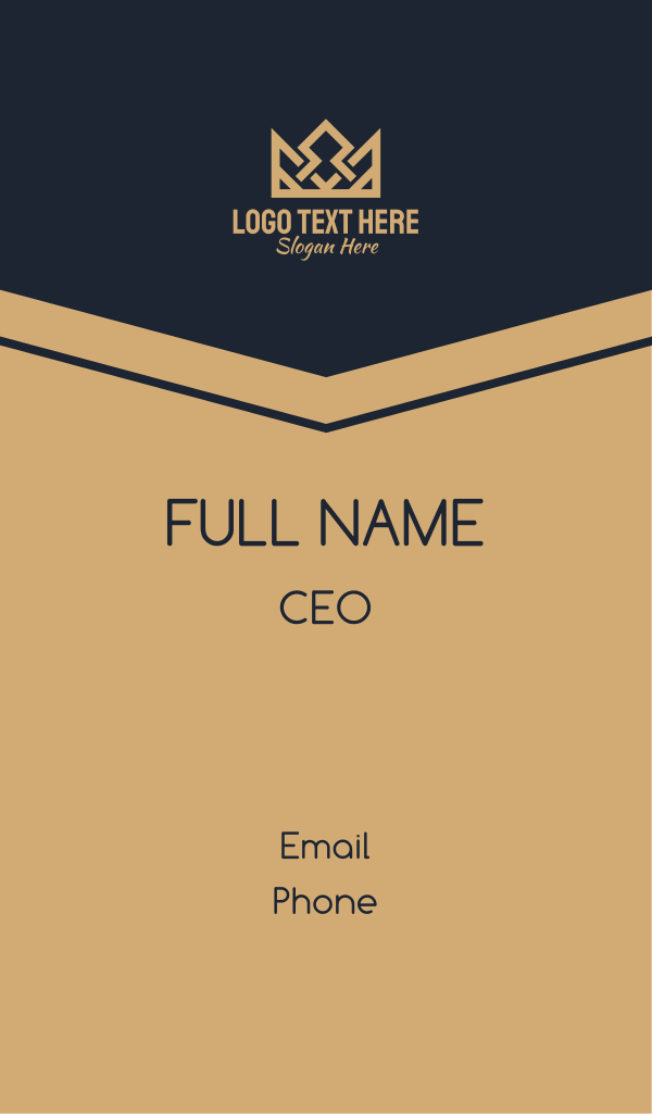 Royal Monarchy Crown Business Card