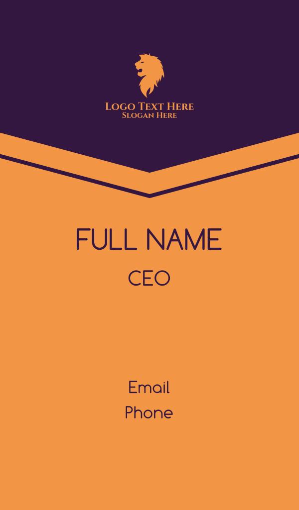Lion Head Monarchy Business Card