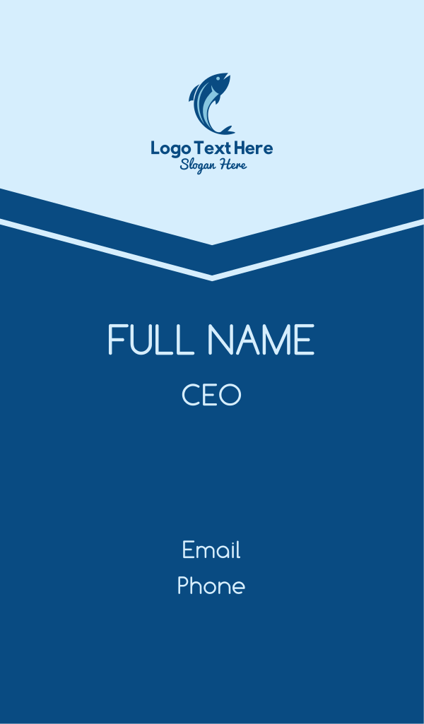 Blue Tuna Fish Business Card