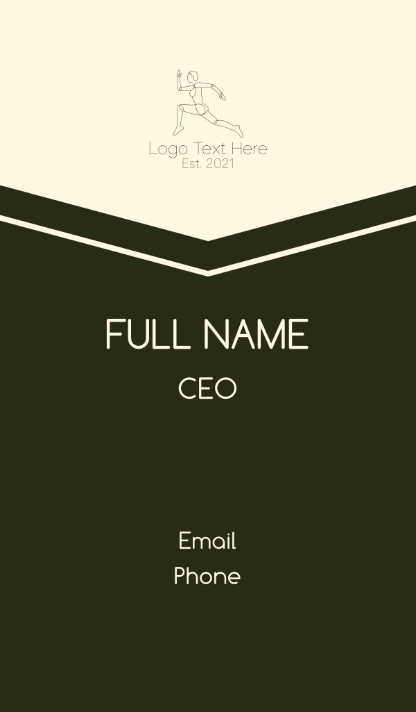Minimalist Runner Business Card