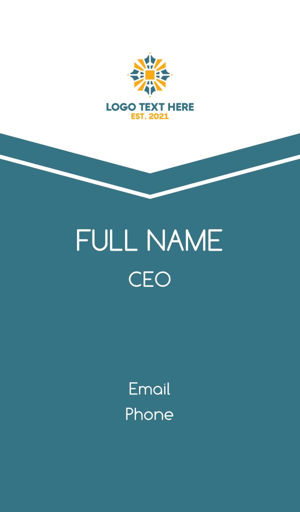 Sun Emblem Business Card