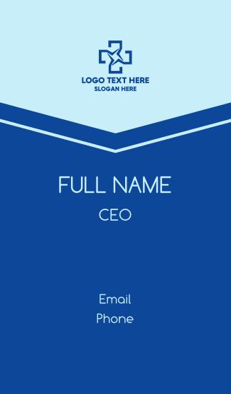 Blue Star Cross Business Card