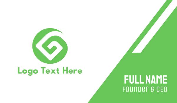 whirl - Green G Pattern Business card horizontal design