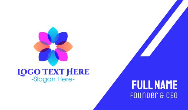 fluorescent - Fluorescent Transparent Flower Petals Business card horizontal design