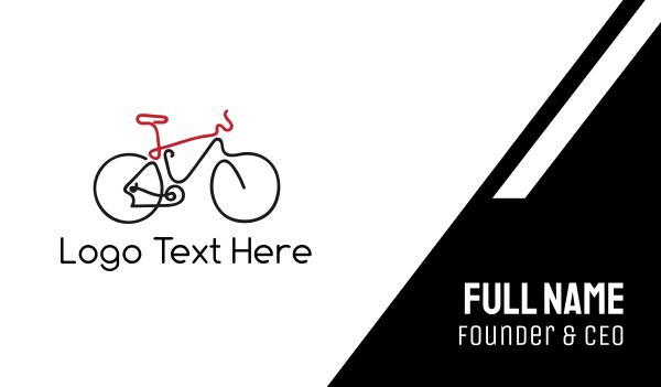 bike tour - Bike Outline Business card horizontal design