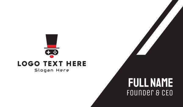 top hat - Game Clown Business card horizontal design
