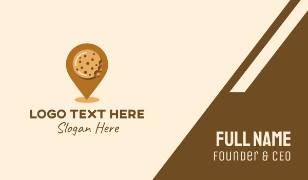 locate - Cookie Location Business card horizontal design