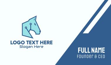 Digital Blue Horse Business Card