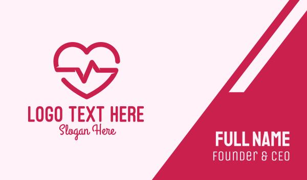 heartbeat - Cute Heartbeat Business card horizontal design
