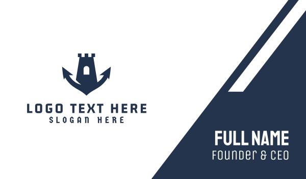 yacht club - Marine Fortress Business card horizontal design