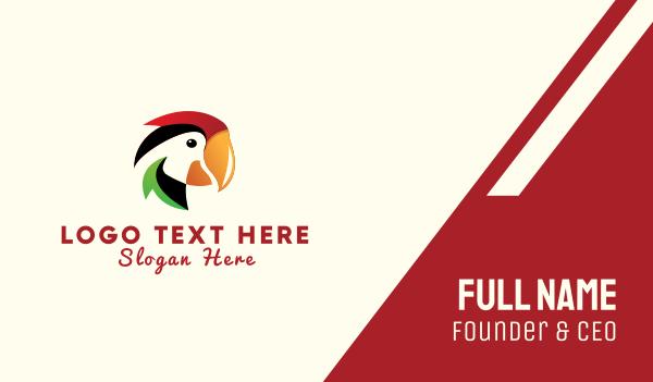 parrot - Colorful Parrot Business card horizontal design