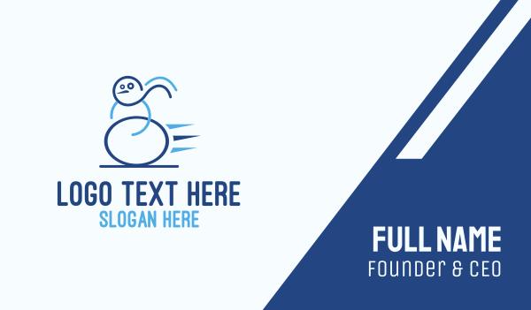 frozen - Fast Snowman Business card horizontal design
