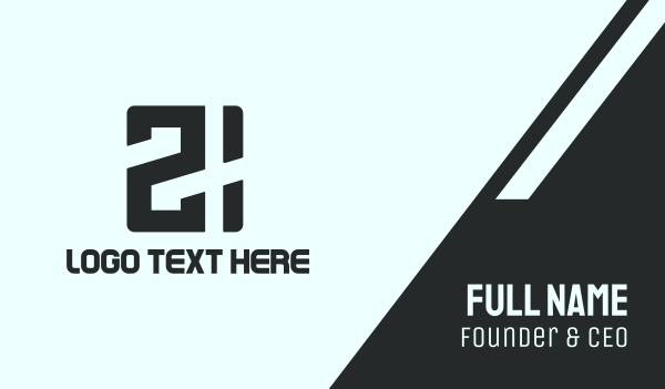 internet cafe - Black Game 21 Business card horizontal design