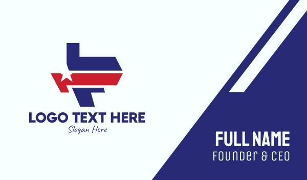 politics - Star American Letter F Business card horizontal design