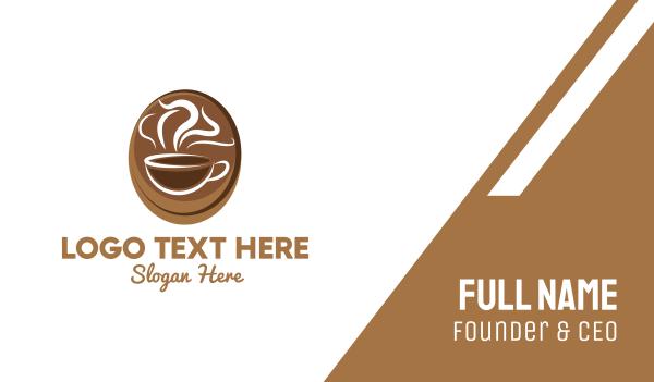 mocha - Coffee Cup Cafe Business card horizontal design