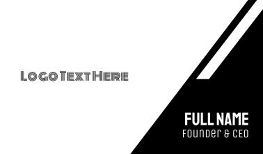 Minimal Black & White Line Text Business Card