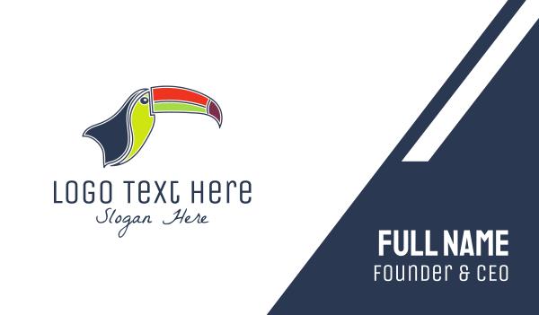 toucan - Tropical Toucan Business card horizontal design
