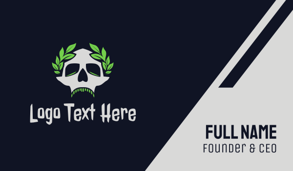 cranium - Dead Skull Caesar Business card horizontal design