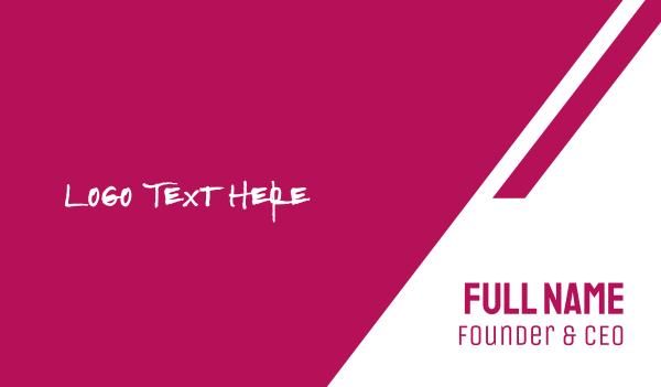 bachelorette - Strong & Pink Text Business card horizontal design