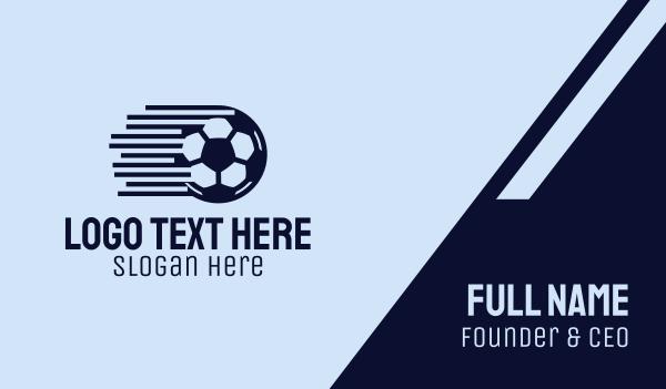 swift - Fast Soccer Ball  Business card horizontal design