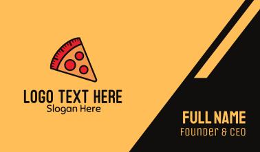Pizza Calorie Metric Business Card