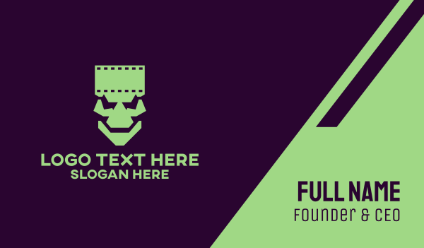 frankenstein - Horror Frankenstein Film  Business card horizontal design