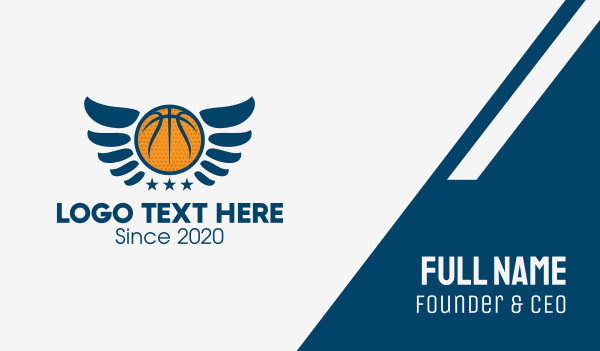 basketball league - Basketball Wings  Business card horizontal design