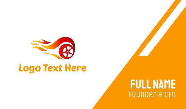 tire - Fire Wheel Business card horizontal design