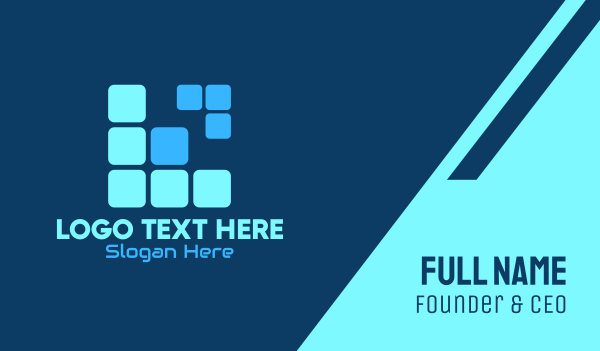blocks - Tetris Letter L Business card horizontal design