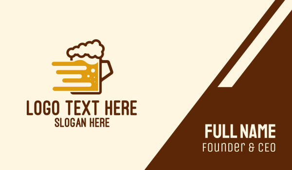 draught beer - Fast Beer Brew Business card horizontal design