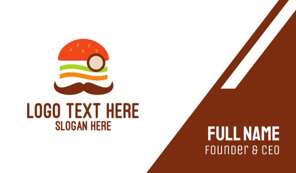 moustache - Moustache Burger Business card horizontal design