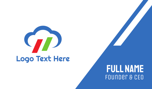 internet of things - Italian Cloud Business card horizontal design