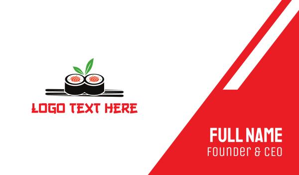 sushi - Sushi Japanese Restaurant Business card horizontal design