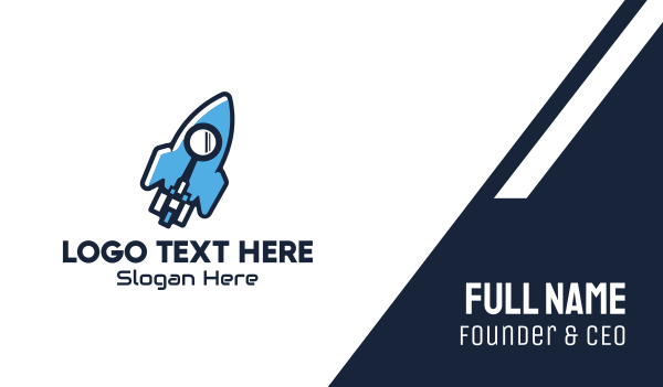 launching - Rocket Launch Search Business card horizontal design