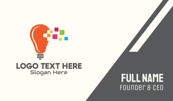 graphic design - Lightbulb Creative Idea Business card horizontal design