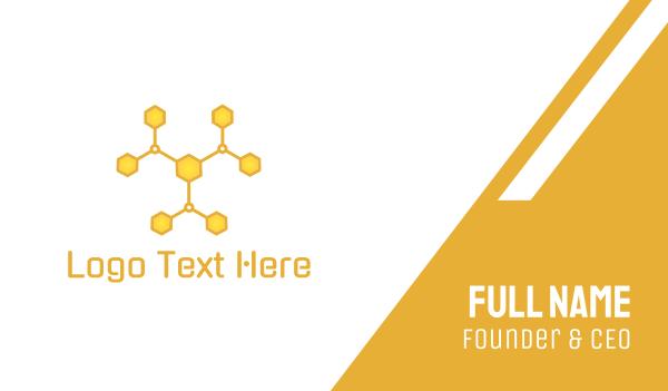 yellow bee - Molecular Hive Business card horizontal design