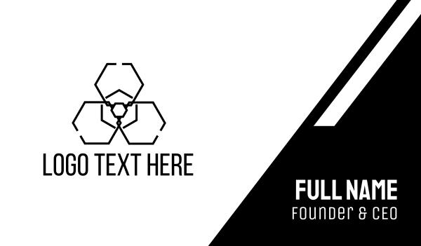 toxic - Radiation Hexagon Business card horizontal design