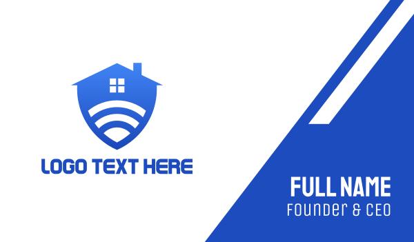 wireless - Safe Smart Home Business card horizontal design