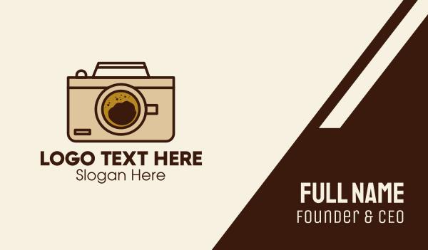 coffeehouse - Photography Camera Cafe  Business card horizontal design