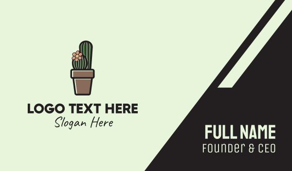 indoor plant - Cactus Flower Pot  Business card horizontal design