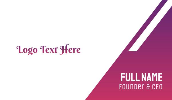 purple girl - Princess Purple Text Business card horizontal design