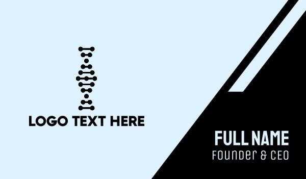 micro - Dot DNA Business card horizontal design
