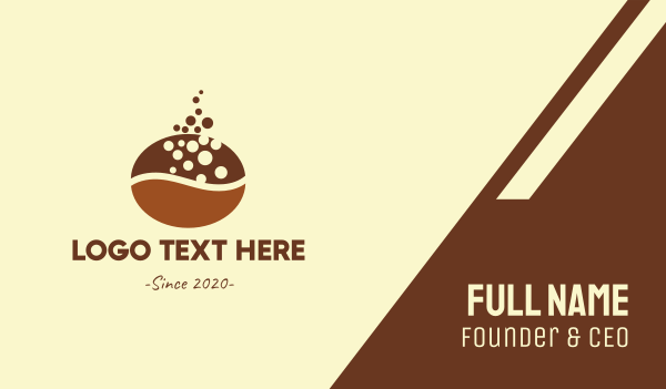 brewed - Brown Coffee Bean  Business card horizontal design