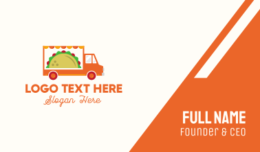 Mexican Taco Food Truck Business Card