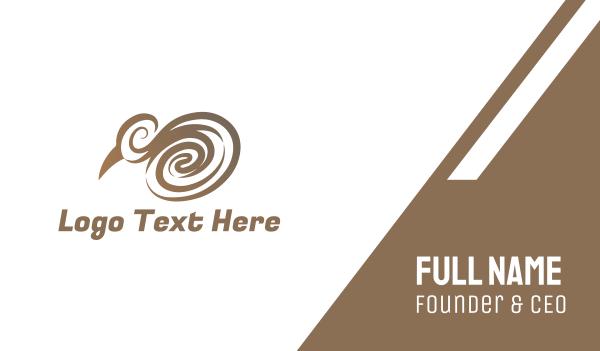 whirl - Elegant Kiwi Business card horizontal design
